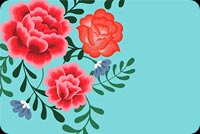 Blue Theme Flowers Stationery, Backgrounds