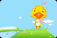 Yellow Duck On Top Of A Hill Stationery, Backgrounds