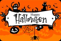 Halloween Sign Stationery, Backgrounds