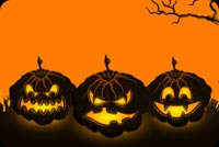 Halloween Jack-o-lanterns Stationery, Backgrounds