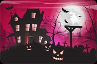 Frightful Fun On Halloween Stationery, Backgrounds