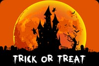 Halloween email stationery. Halloween Trick Or Treat Night