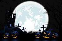 Dark Halloween Night Stationery, Backgrounds