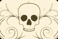 Halloween email stationery. Skull Tattoo Design