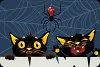Halloween Cats Stationery, Backgrounds