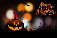 Wishing You A Magical Halloween Night Stationery, Backgrounds