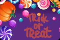 Sweet Candies Trick Or Treat Stationery, Backgrounds