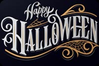 Happy Halloween Sign Stationery, Backgrounds