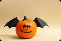 Pumpkins With Smile And Wings Stationery, Backgrounds