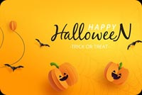 Halloween Trick Or Treat Stationery, Backgrounds