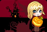 Cute Girl Holding A Pumpkin Stationery, Backgrounds