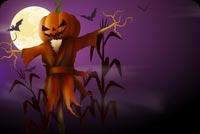 Happy Halloween Night Moonlight Stationery, Backgrounds