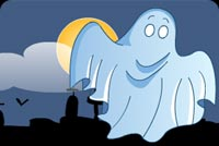 Creepy Translucent Ghost Stationery, Backgrounds
