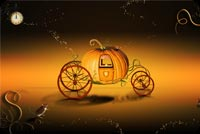 Magical Pumpkin Carriage Stationery, Backgrounds