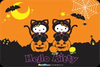 Cute Hello Kitty Halloween Stationery, Backgrounds