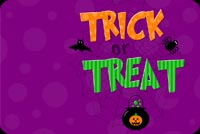 Trick Or Treat Halloween Stationery, Backgrounds