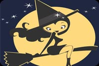 Cute Witch By The Moon & Stars Stationery, Backgrounds