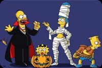 Halloween email stationery. Simpsons Go Halloween