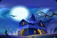 Old Scary House By The Moonlight Stationery, Backgrounds