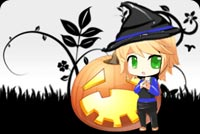Cute Witch With Pumpkin Stationery, Backgrounds