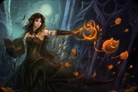 Halloween Witch Does Magic Stationery, Backgrounds