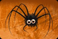 Wide Eyed Halloween Spider Stationery, Backgrounds
