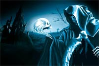 Halloween Grim Reaper Stationery, Backgrounds
