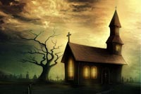 Halloween email stationery. The Church