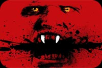 Red Scary Face Stationery, Backgrounds