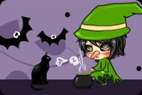 Girl With Witch Nose Stationery, Backgrounds