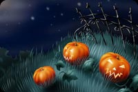 Pumpkins Night Stationery, Backgrounds