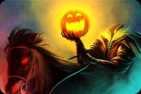 Headless Horseman, Pumpkin & Evil Horse Stationery, Backgrounds
