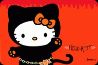 Cute Trick Or Treat Kitty Stationery, Backgrounds