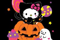Sweet Kitty Halloween Treats Stationery, Backgrounds