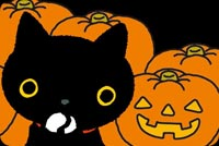 Cute Black Cat & Pumpkins Stationery, Backgrounds