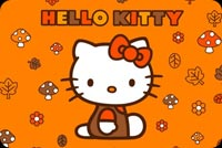 Halloween email stationery. Hello Kitty Halloween Wishes