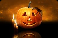Halloween Pumpkin Candles & Spider Stationery, Backgrounds