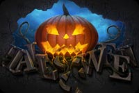 Halloween email stationery. Pumpkin & Halloween 3D Text