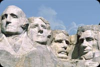 July 4th email stationery. 4 Faces Of Mount Rushmore