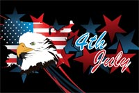 Celebrating The Fourth Of July Stationery, Backgrounds