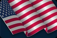 Usa Flag And Stars Stationery, Backgrounds
