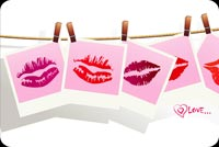Hanging Lipstick Marks Stationery, Backgrounds