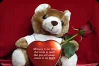 Love email stationery. Teddy Bear, Rose And Chocolates