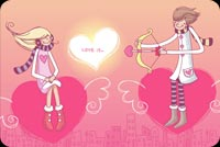 Sweet Boy Arrows Girl  Stationery, Backgrounds