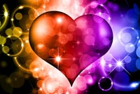 Colorful Loving Heart Stationery, Backgrounds