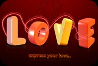 Love 3d Text Stationery, Backgrounds