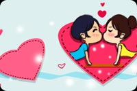 Boy And Girl Kiss Stationery, Backgrounds