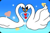 Love email stationery. 2 Swans In Love