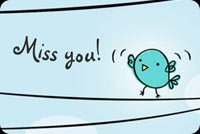 Cute Little Bird Miss You Stationery, Backgrounds