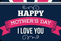 Mothers day email stationery. Blue & Pink Mother's Day Theme